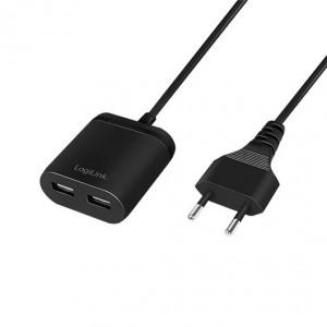 CARGADOR USB LOGILINK PA0255 NEGRO